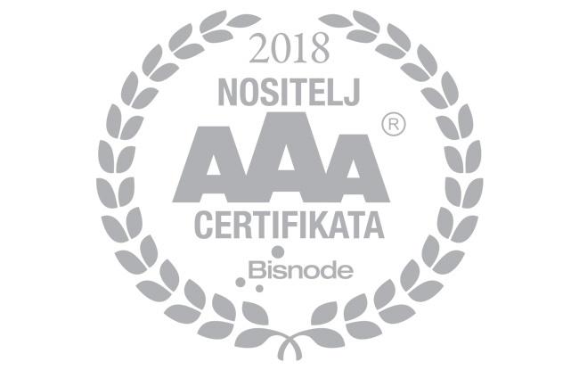Adria oil-u dodijeljen najviši razred bonitetne izvrsnosti (AAA certifikat)