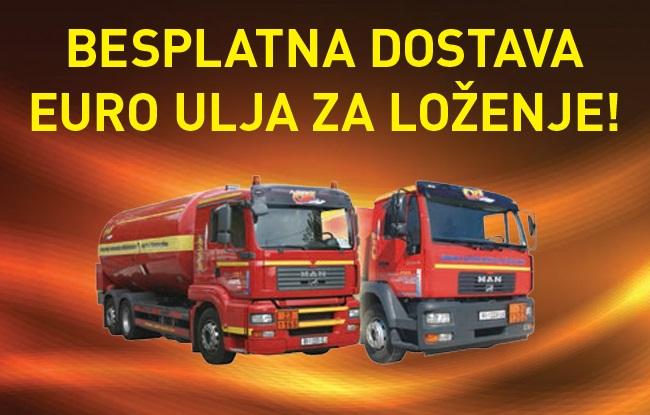 Besplatna dostava Euro ulja za loženje!