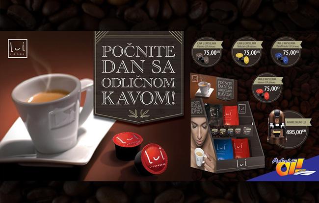 Počnite dan s odličnom LUI L'Espresso  kavom!